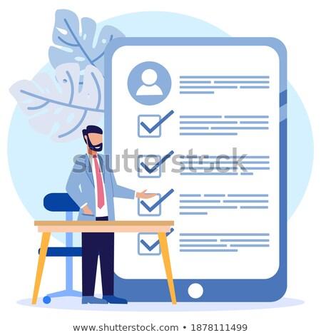 Document evaluation vector concept metaphor Stock photo © RAStudio