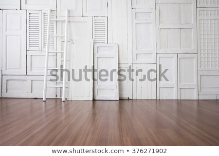 Ladder on wooden floor Stock photo © magraphics