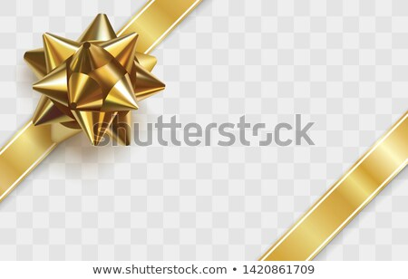 Stock photo: two giftbox with golden bow