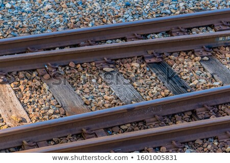 Railroad track fork Stock photo © bobkeenan