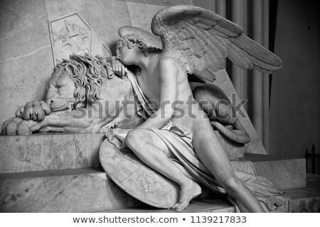 Statue italien sculpteur république Venise homme Photo stock © Stocksnapper
