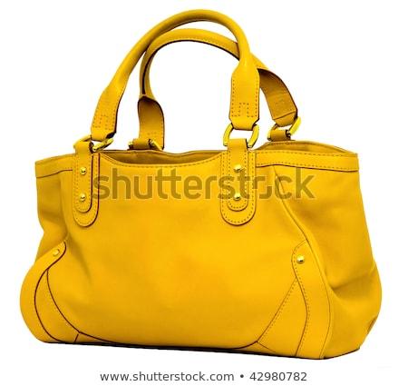 желтый · Lady · сумку · белый · моде · красоту - Сток-фото © RuslanOmega