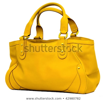 amarelo · senhora · saco · branco · moda · beleza - foto stock © RuslanOmega