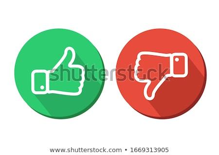 Piros pozitív fekete negatív elem Stock fotó © devon