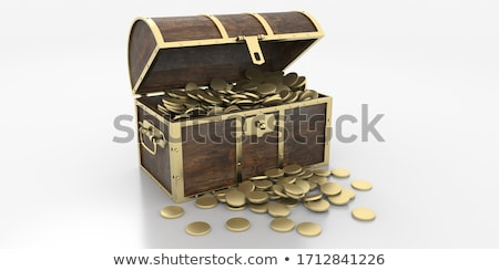Brown box full of coins Stock photo © AndreyKr