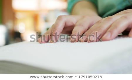 Trabalhador de escritório leitura homem trabalhar cabelo tabela Foto stock © photography33