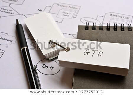 Acronym of GTD for Getting Things Done Stock photo © bbbar