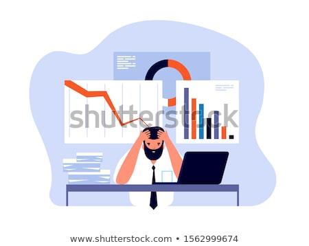 Válság kudarc kétségbeesett üzletemberek néz rossz hírek Stock fotó © smithore