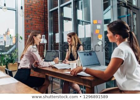 Grupo de trabajo estudio habitación casa Internet reunión Foto stock © photography33