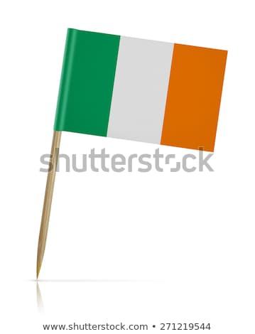 Minyatür bayrak İrlanda yalıtılmış turuncu Stok fotoğraf © bosphorus