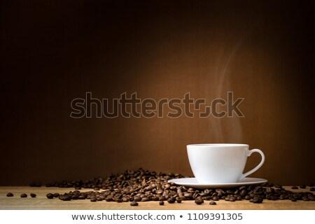 fincan · kahve · fasulye · öğütücü · tahta · karanlık - stok fotoğraf © stuartmiles