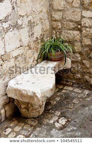 Stony bench - Trogir. Stock photo © tomasz_parys