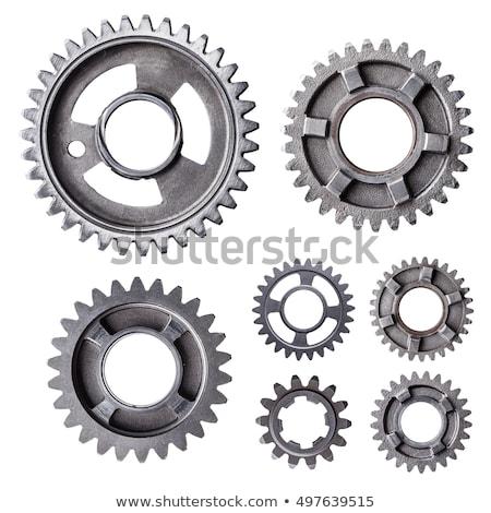 Metaal versnellingen chroom versnelling wielen ondiep Stockfoto © creisinger