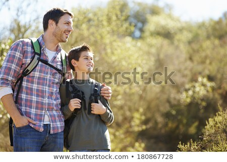 lopen · vader · achter · volwassen · zoon - stockfoto © photography33