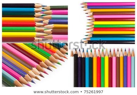Kalemler renk yalıtılmış beyaz ahşap okul Stok fotoğraf © jakgree_inkliang