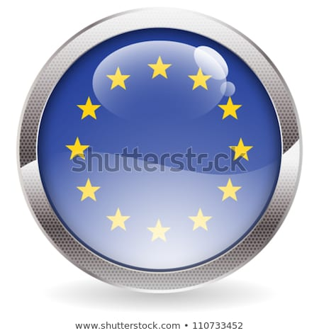 Gloss Button with EU Flag Stock photo © -TAlex-