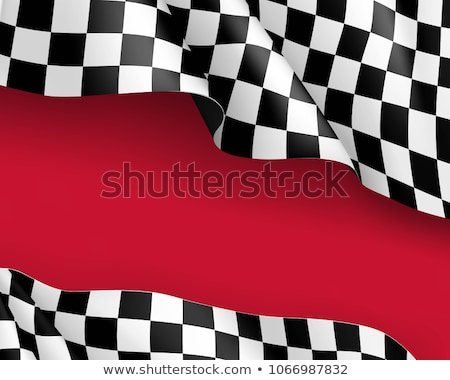 Red car on a checkered flag Stock photo © cla78
