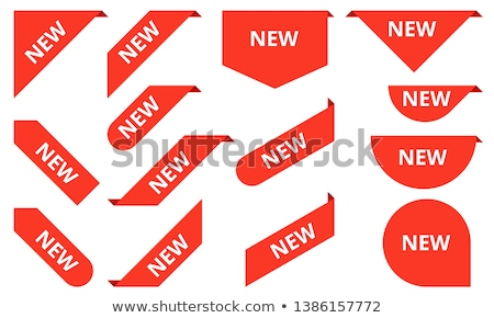 Stock photo: Set of Red Labels with Tag NEW