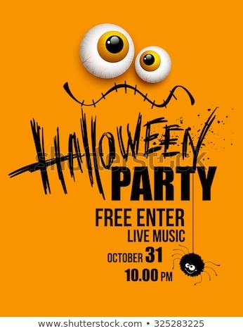 halloween · partij · pompoenen · gezicht · ontwerp · achtergrond - stockfoto © articular