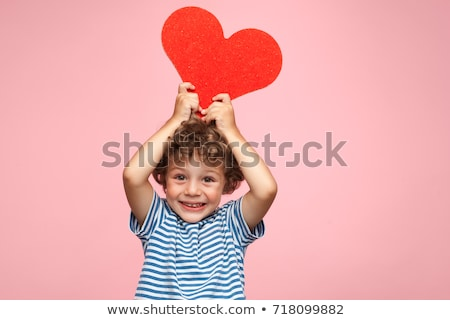 ritratto · ragazzo · a · forma · di · cuore · felice · cuore - foto d'archivio © zzve