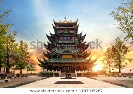 ancient chinese buddhist pagoda stock photo © raywoo
