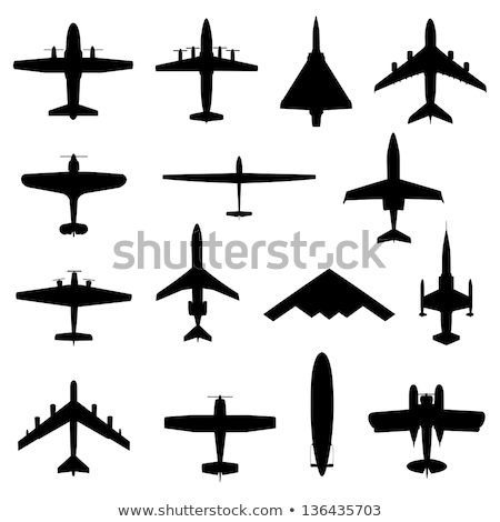 Fighter aircraft silhouettes Stock photo © lkeskinen