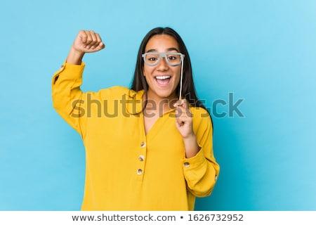 nő · visel · hülye · kalap · mosolyog · kaukázusi - stock fotó © photography33