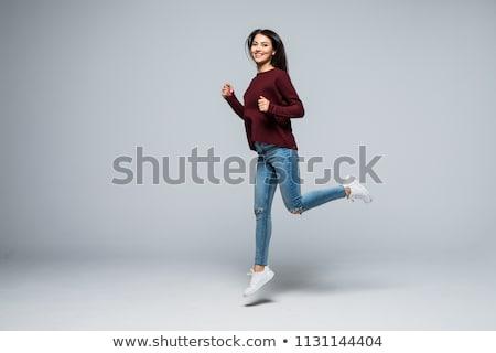 модный · очаровательный · женщину · случайный · позируют · рук - Сток-фото © stockyimages