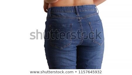 Lady puts on the blue panties Stock photo © acidgrey