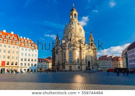 Drezno Niemcy kościoła zniszczony świat wojny Zdjęcia stock © joyr