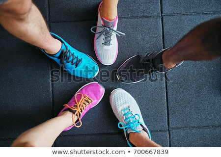 Women's shoes in a circle Stock photo © a2bb5s