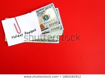 budget · geschreven · bankbiljetten · witte · business · ontwerp - stockfoto © pterwort