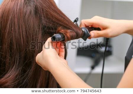 vrouwelijke · klant · haren · salon · hand - stockfoto © wavebreak_media