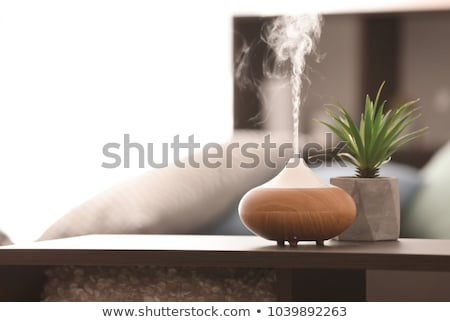 油 アロマセラピー 背景 青 オブジェクト 健康 ストックフォト © Ronen