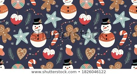 クリスマス · 雪だるま · 鳥 · 孤立した · 白 · 笑顔 - ストックフォト © michey