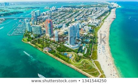 Miami légifelvétel Florida USA város tájkép Stock fotó © prill