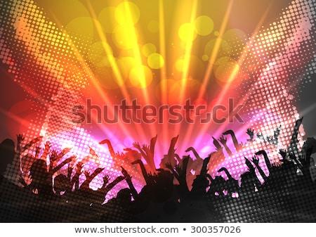 kalabalıklar · insanlar · dev · kız · adam · dans - stok fotoğraf © huhulin