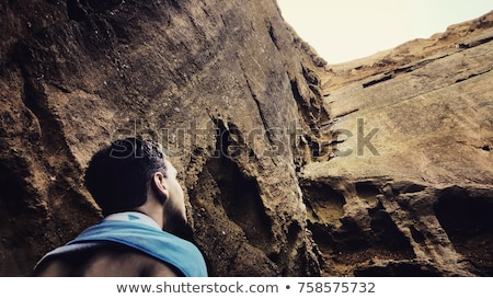 Looking up a natural Rock Wall Stock photo © wildnerdpix