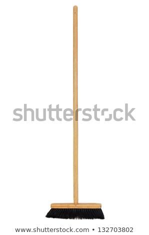 Wooden Broom Stock fotó © ajt