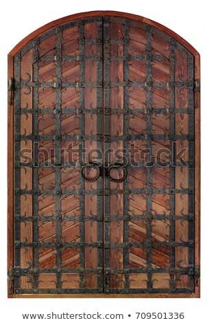 cross on antique wood stock photo © gordo25