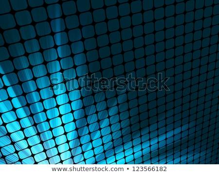 kék · sugarak · fény · 3D · mozaik · eps - stock fotó © beholdereye