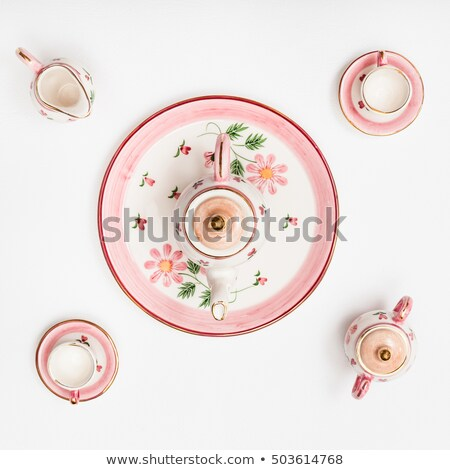 Ornamented teacup top view Stock photo © shutswis