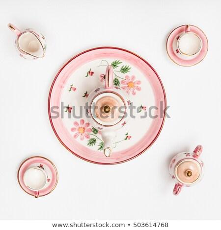 чайная чашка Top мнение белый здоровья синий Сток-фото © shutswis