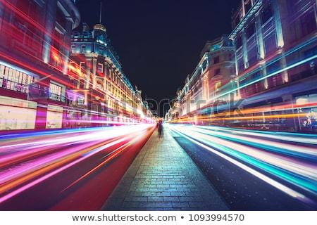 rue · nuit · ville · Londres · urbaine · bus - photo stock © pab_map