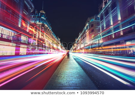 Straat nacht stad Londen stedelijke bus Stockfoto © pab_map