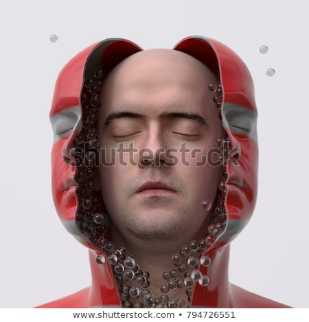 Capsule in open human head	 Stock photo © 4designersart