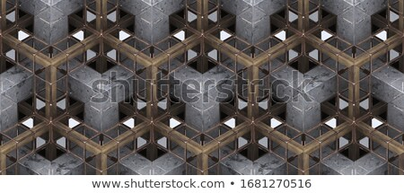background with precious stones gold pattern and the grid stock photo © yurkina