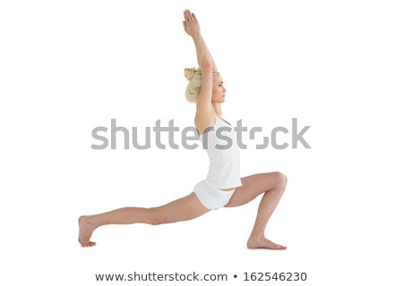 Side view of young woman joining hands over head Stock photo © wavebreak_media