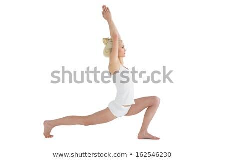 вид · сбоку · рук · голову · спортивная · одежда · белый - Сток-фото © wavebreak_media