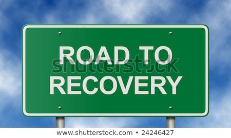 autostrada · segno · recessione · guarigione · verde · parole - foto d'archivio © iqoncept